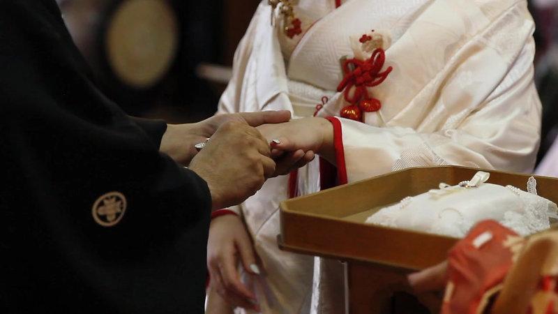 放生津八幡宮 神前結婚式