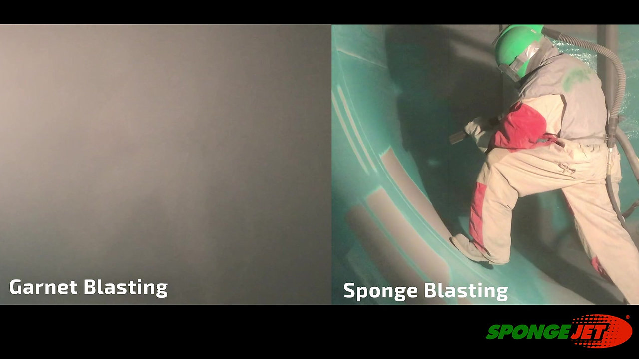 Comparison between Sponge Blasting & Garnet