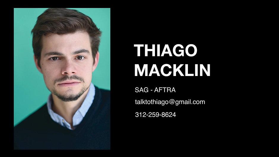 Thiago Macklin Acting Reel