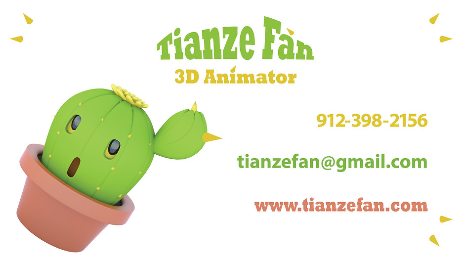 Tianze Fan_DemoReel_2021