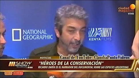 Ricardo Darín presentó Héroes de la conservación Estreno 0506 en National Geographic
