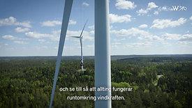 108 meter upp  - En svindlande arbetsplats Wallenstam Intervju vindkraftverk