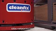 Cleanfix Robotic Floor Scrubber in Action