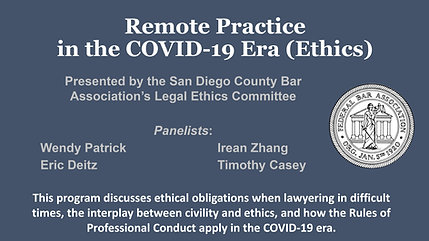 Remote Practice in the COVID-19 Era (Ethics)