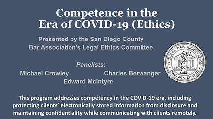 Competence in COVID-19 Era (Ethics)
