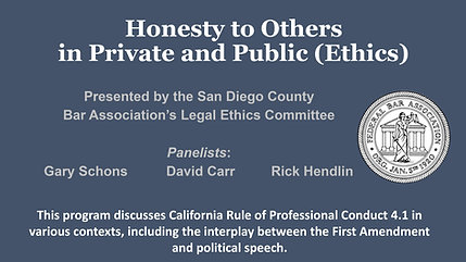 Honesty to Others in Private and Public (Ethics)