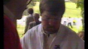 Steve Remfry and English cricketers on State Affair 1991