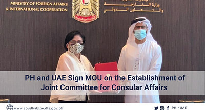 PH and UAE Sign MOU on the Establishment of Joint Committee for Consular Affairs
