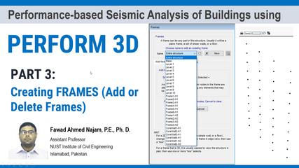 Part 3: PERFORM 3D - Add or Delete Frames
