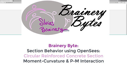 BraineryByte: Section Definition and Analysis 4: Fiber Section (Circular Reinforced Concrete) in OpenSees