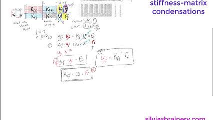 more Direct Stiffness Matrix Fun, part 2 -- Condensation Stiffness Matrix