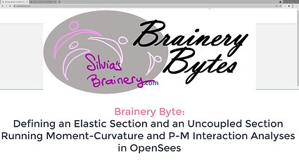 BraineryByte: Section Definition and Analysis 1: Elastic and Uncoupled Sections in OpenSees