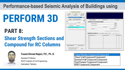 Part 8: PERFORM 3D – Definition of Shear Strength Sections and Compound for RC Columns