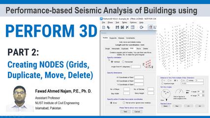 Part 2: PERFORM 3D - Creating Nodes (Single, Interpolate, Duplicate, Grid, Move, Delete)