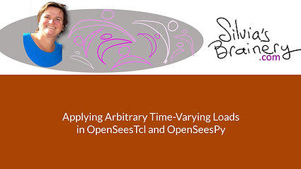 Wind Loading (Arbitrary Time-Varying Nodal Loads) in OpenSees & OpenSeesPy