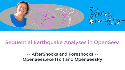 Sequential Earthquake Analyses -- AfterShocks and Foreshocks -- in OpenSees.exe (Tcl) and OpenSeesPy