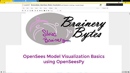 BraineryByte: OpenSees Model Visualization Basics: the 3D Model and Eigenmodes