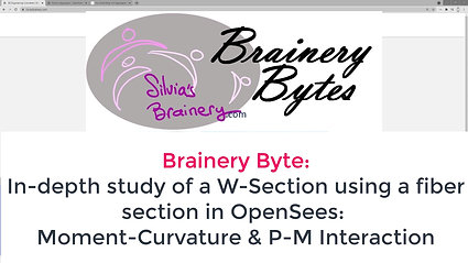 BraineryByte: Section Definition and Analysis 2: Fiber Section (W-section) in OpenSees