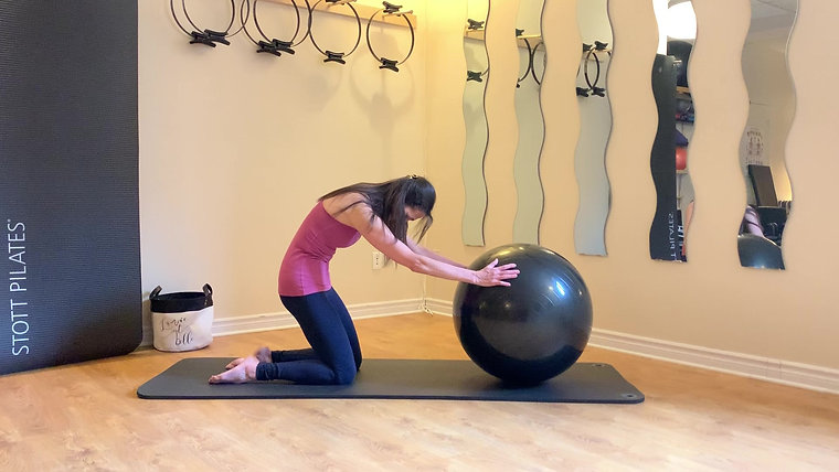 Pilates ballon, haut du corp