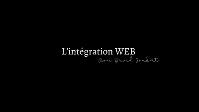 EXPERT DAVID JOUBERT : L'intégration web