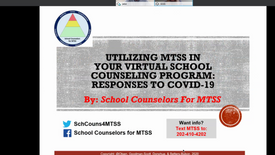 Utilizing MTSS in your Virtual School Counseling Program