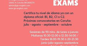Cursos intensivos de verano de preparación exámenes Cambridge B1 - B2 - C1