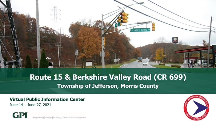 Route 15 Berkshire Valley Rd Virtual PIC