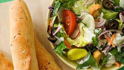 Olive Garden Salad & Breadstix- Copycat Edition