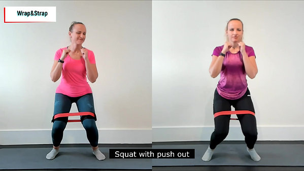 Squat with push out
