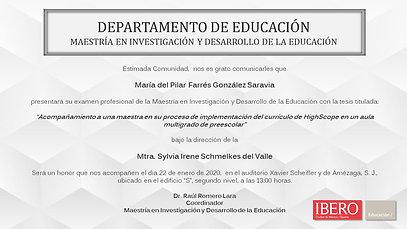 Maestría en Investigación y Desarrollo de la Educación