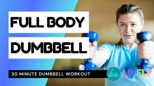 Full body dumbbell workout | Intermediate | 30 mins