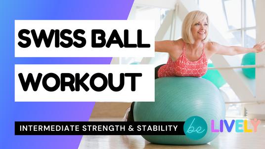 Swiss Ball Workout | Intermediate | 30 mins