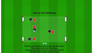 One on one attacking