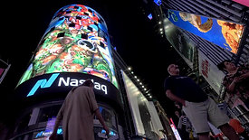 "Carla Gannis's ""Portraits in Landscape"" in Times Square Midnight Moment"