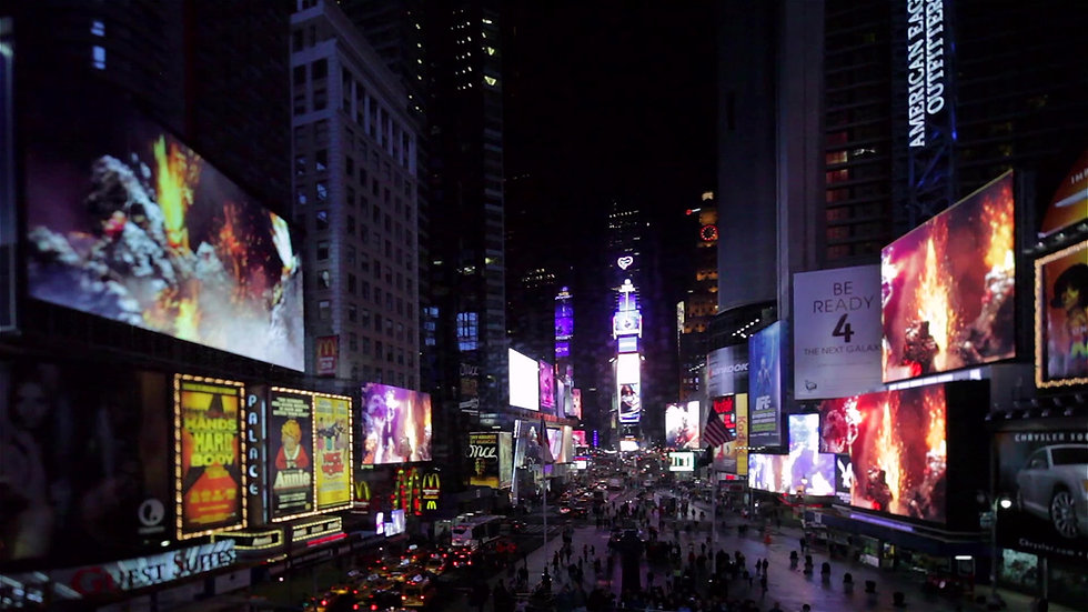 "Bjork's ""Mutual Core"" in Times Square Midnight Moment"