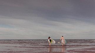Rachelle & Stuart Boarding, Prince Edward Island, Canada, Couples Adventure Session