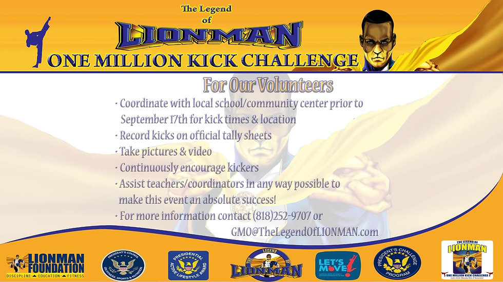 2014 The Legend of LIONMAN One Million Kick Challenge