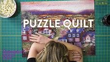 Interlocking Puzzle Quilt SEASON 4 PREMIERE | Midnight Quilt Show with Angela Walters