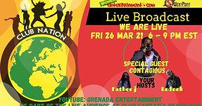 Club Nation Fri 26 Mar with Contagious, Lednek & Father J