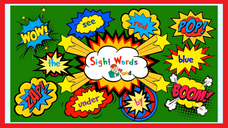 Sight word - we, yellow, day