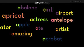 Letter A   Abcmouse