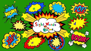 Sight words - all, out, that