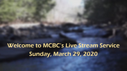 Sunday Service-March 29, 2020
