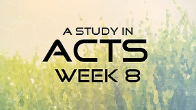 Acts Week 8