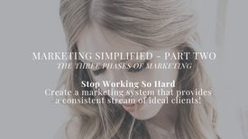 Marketing Simplified Part Two -  The Three Phases of Marketing - PREVIEW