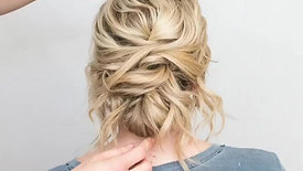 Twisted Tousled Updo by Erin Ryser