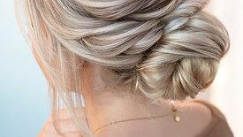 Textured Twisted Updo by Stephanie Brinkerhoff