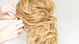 Messy Tousled Updo by Erin Ryser
