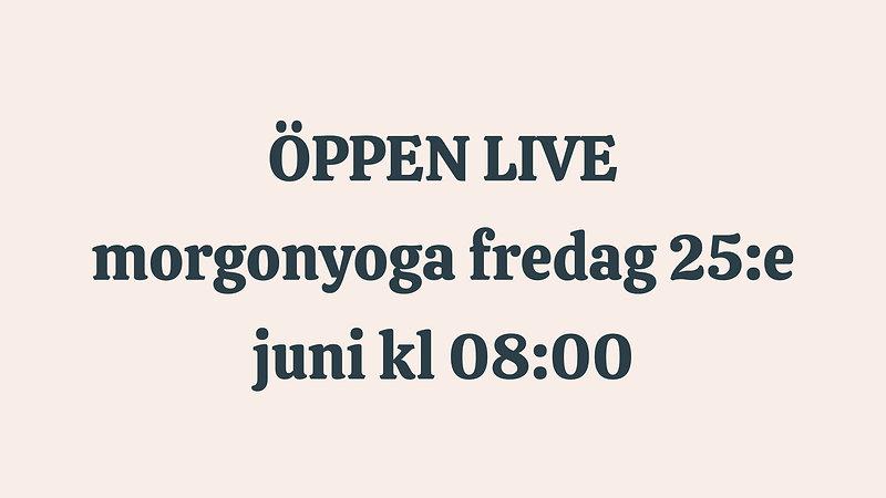 Öppna liveklasser