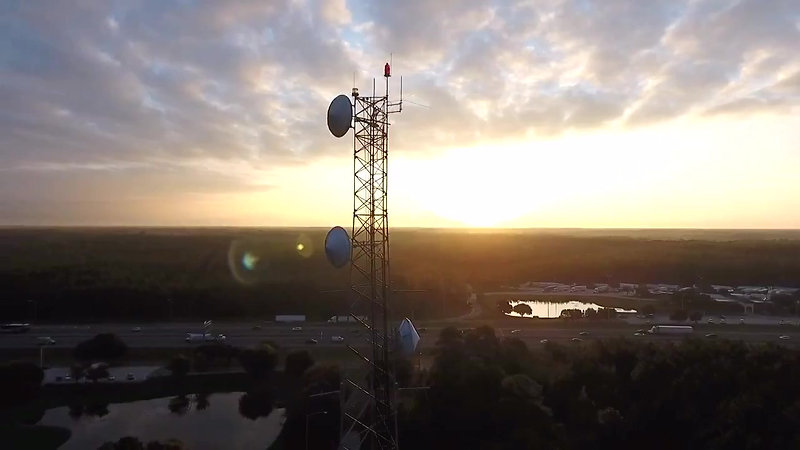 Drone Test FL Truck Stop Cell Tower